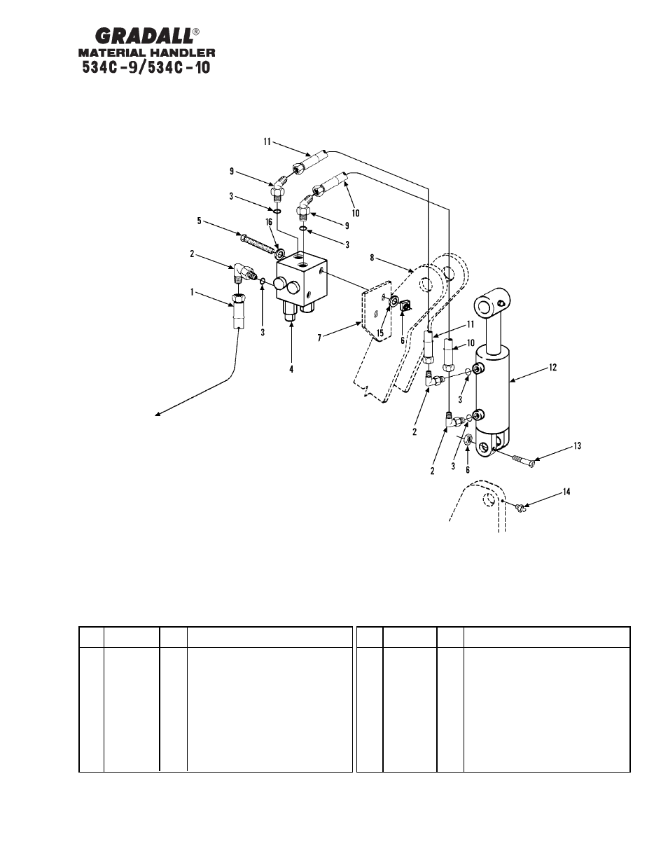 Hydraulic Circuits Stabilizer Cylinder Gradall 534c 10 Parts Basic Circuit Manual User Page 148 255