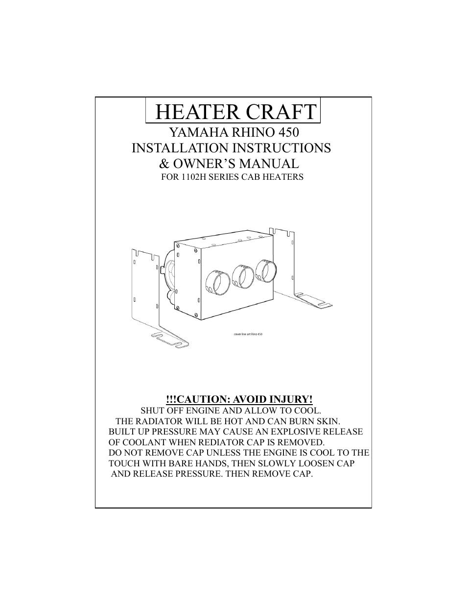 Heater Craft 450 Yamaha Rhino User Manual   7 pages