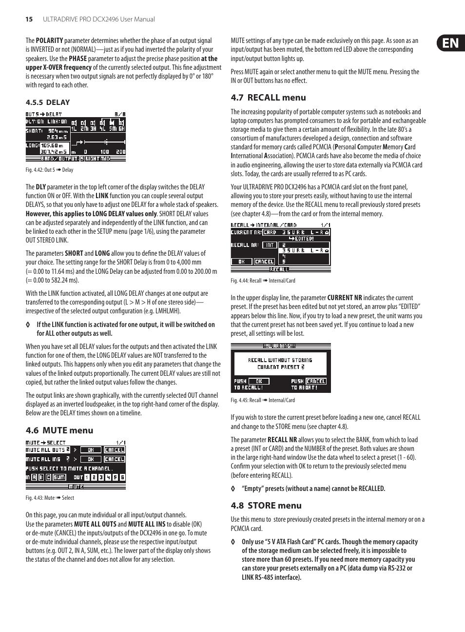 behringer ultradrive pro dcx2496 user manual page 15 35 rh manualsdir com Behringer DriveRack Behringer DriveRack