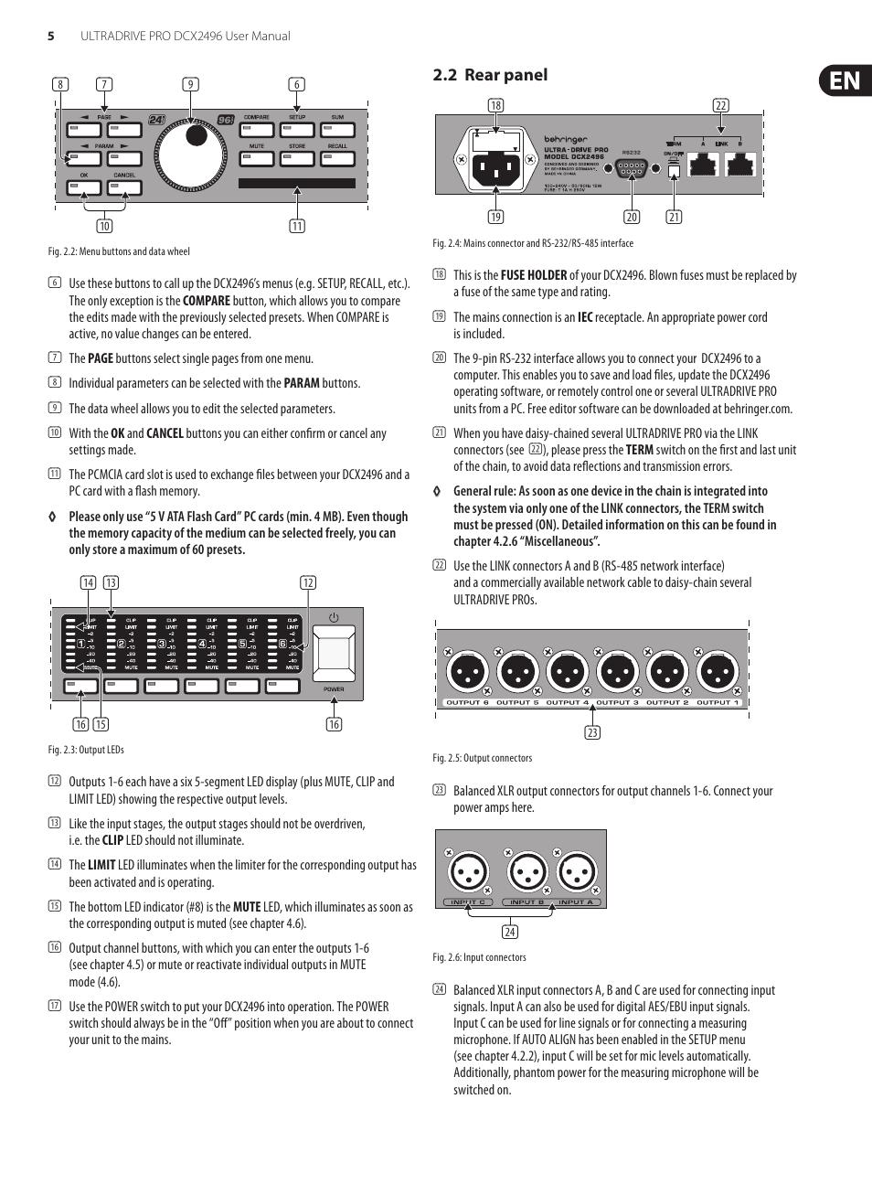 behringer ultradrive pro dcx2496 user manual page 5 35 rh manualsdir com Behringer Digital Crossover Behringer Ultradrive Pro DCX2496 Manual