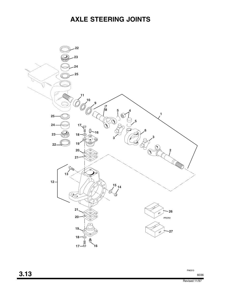 Axle Steering Joints 3 13