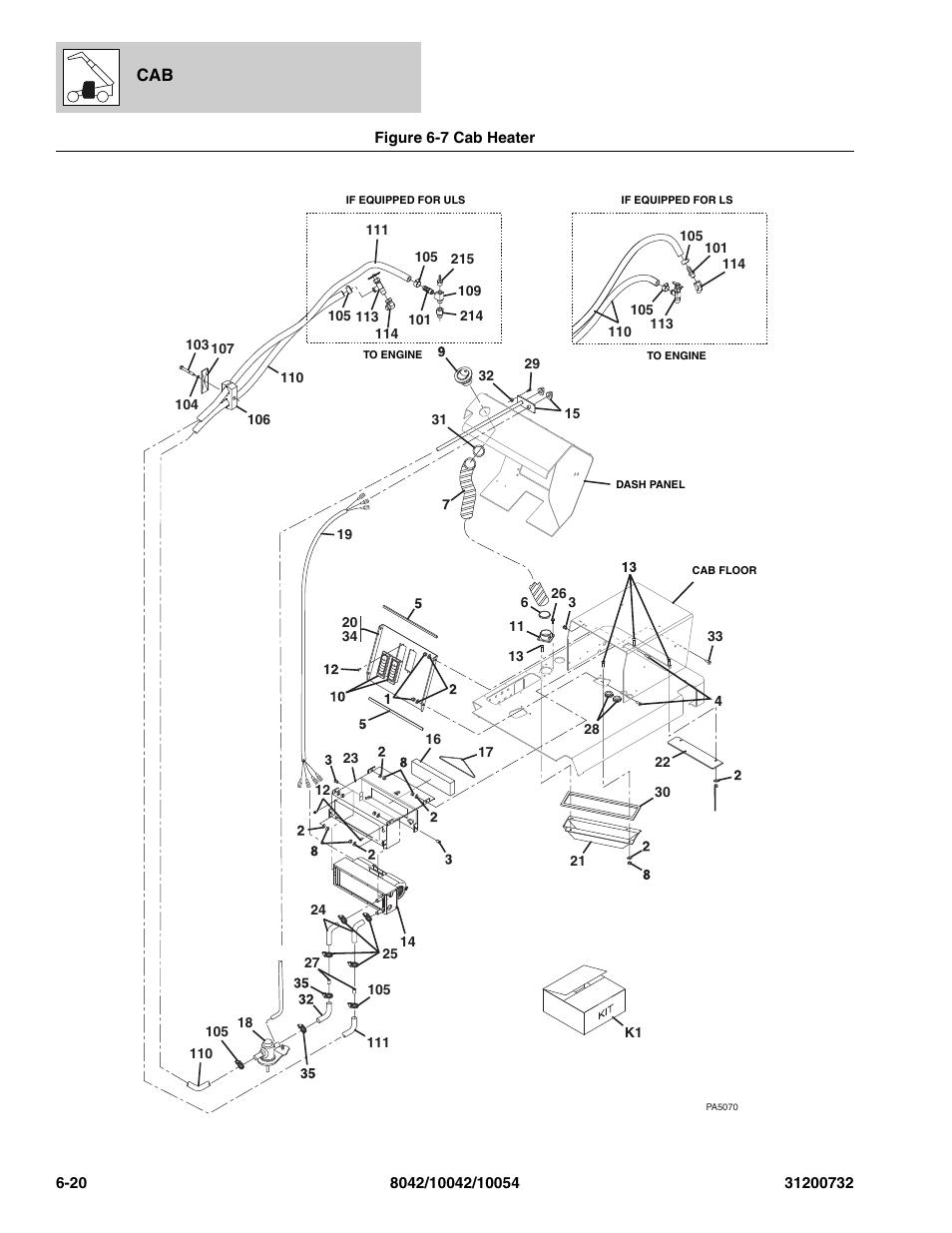 Skytrak 8042 Wiring Diagram Parts Wire Diagrams Yale Glp060 Manual Complete U2022 Steering Cylinder Rebuild Kit Figure 6
