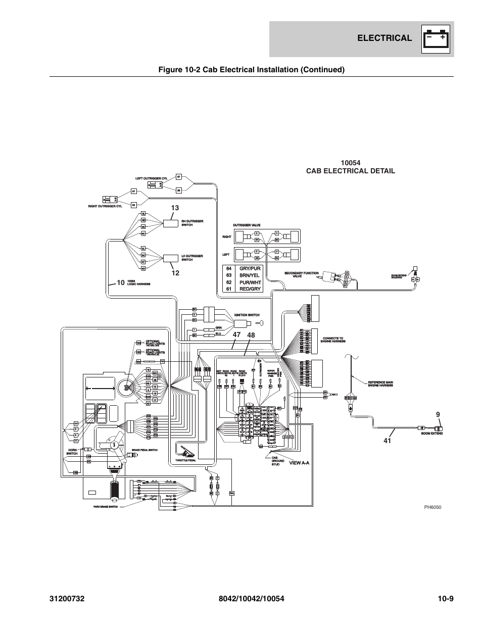 Electrical, Parkbrake dis relay, Not used | SkyTrak 8042 Parts Manual User  Manual | Page 317 / 388Manuals Directory
