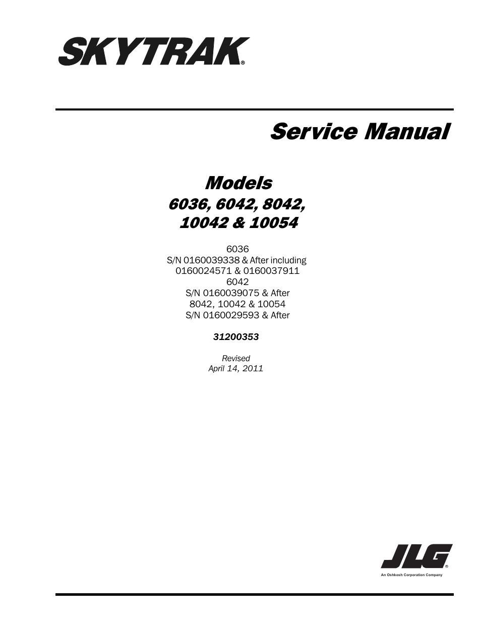 SkyTrak 8042 Service Manual User Manual | 230 pages | Also for: 6042  Service Manual, 6036 Service Manual, 10054 Service Manual, 10042 Service  Manual