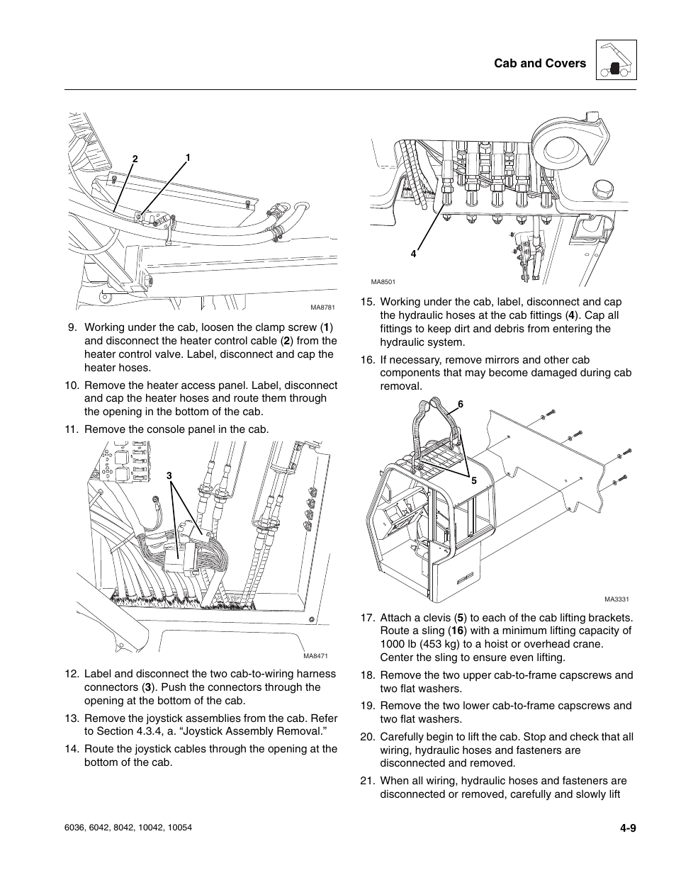 Skytrak 6036 Service Manual User Page 103 276 Also For Remove Wiring Harness Pins 6042 10042 10054 8042