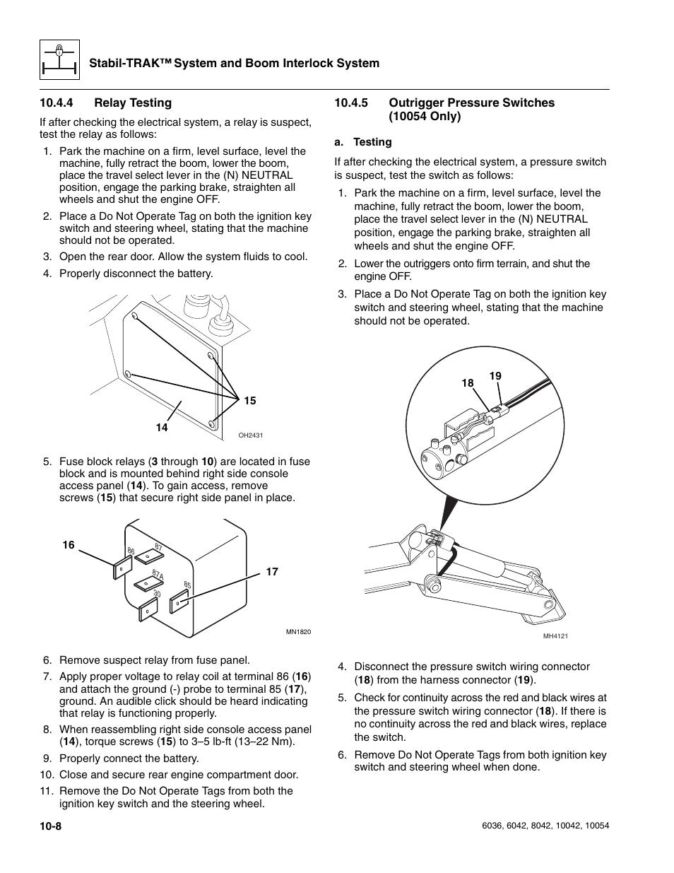 1950 Square D Pressure Switch 9013 Type A Diagram Trusted Wiring Pumptrol Skytrak Operators Manual