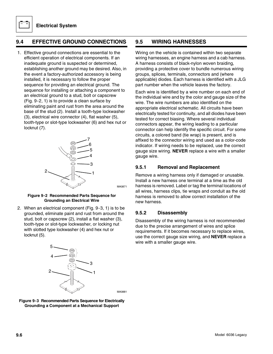 Skytrak 6036 Service Manual User Page 358 460 Wire Harness Stud