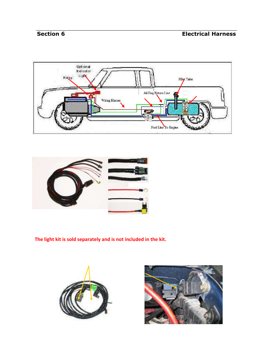 The airdog, Pureflow airdog airdog, Wiring diagram (in red) | PureFlow  AirDog DF-200 - GM Duramax 2011-2014 User Manual | Page 15 / 24