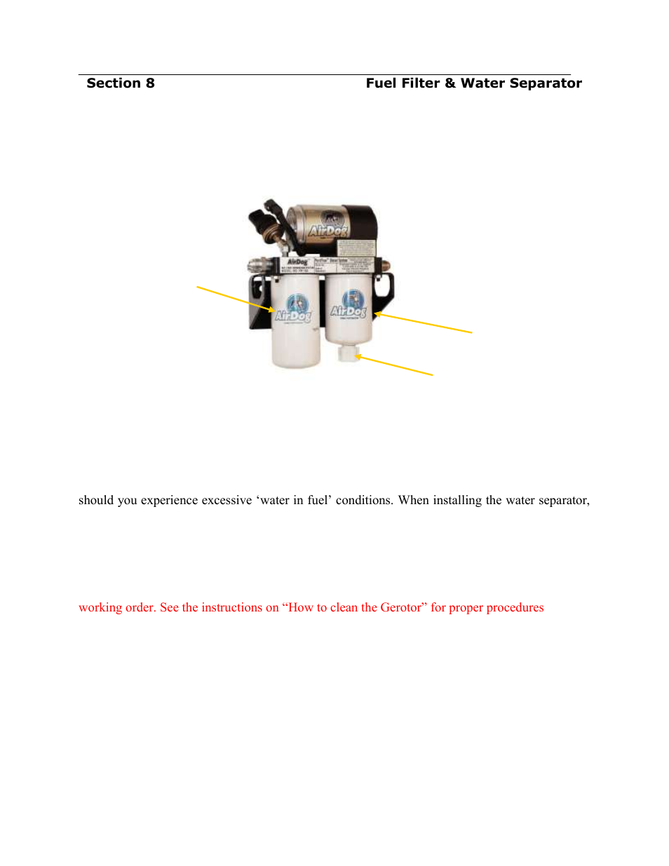 Filter Service Recommendations Pureflow Airdog Df 165 4g Gm Duramax Diesel Fuel 2015 User Manual Page 18 23
