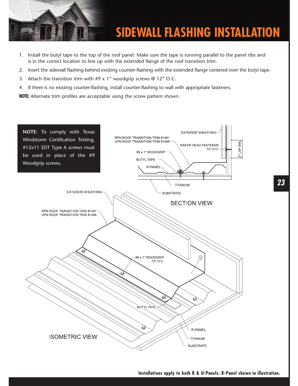 Sidewall flashing installation mueller u panel user manual sidewall flashing installation mueller u panel user manual page 23 28 1betcityfo Choice Image