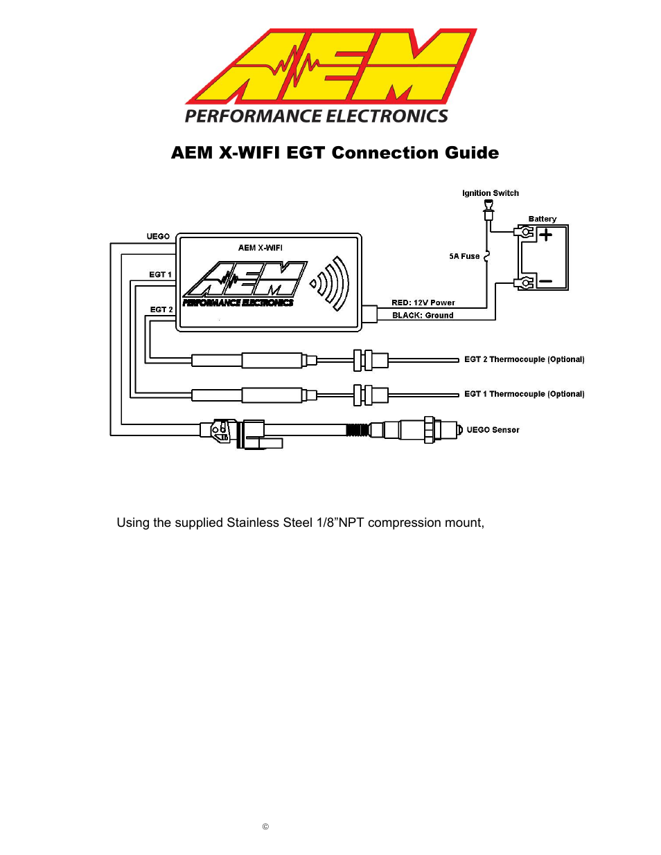 Aem 30 2067 X Wifi K Type Closed Tip Thermocouple Kit User Manual Wiring Diagram For 2 Pages
