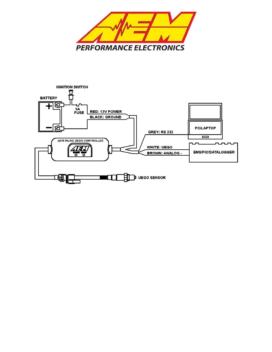 AEM 30-2310 Inline Wideband UEGO Controller User Manual   8 ... on