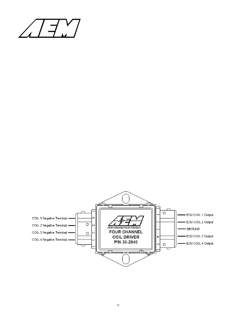 AEM 30-2840 4 Channel Coil Driver User Manual | 2 pages on