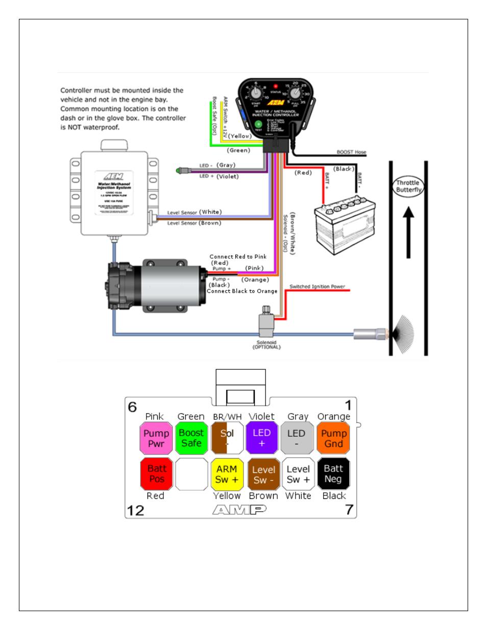 Installation Diagram AEM V Water Methanol Nozzle And - Aem water methanol kit wiring diagram