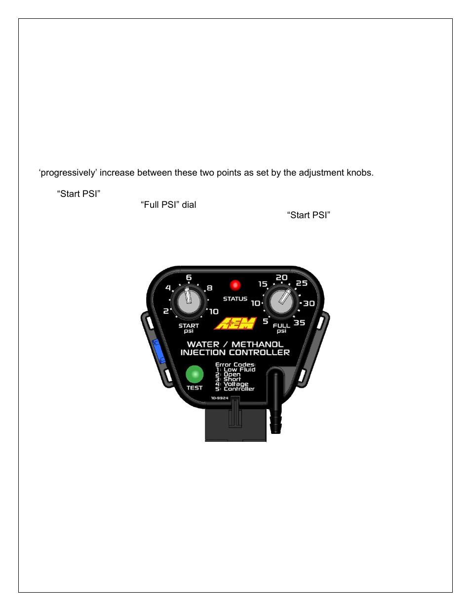 AEM 30-3306 Water//Methanol Controller