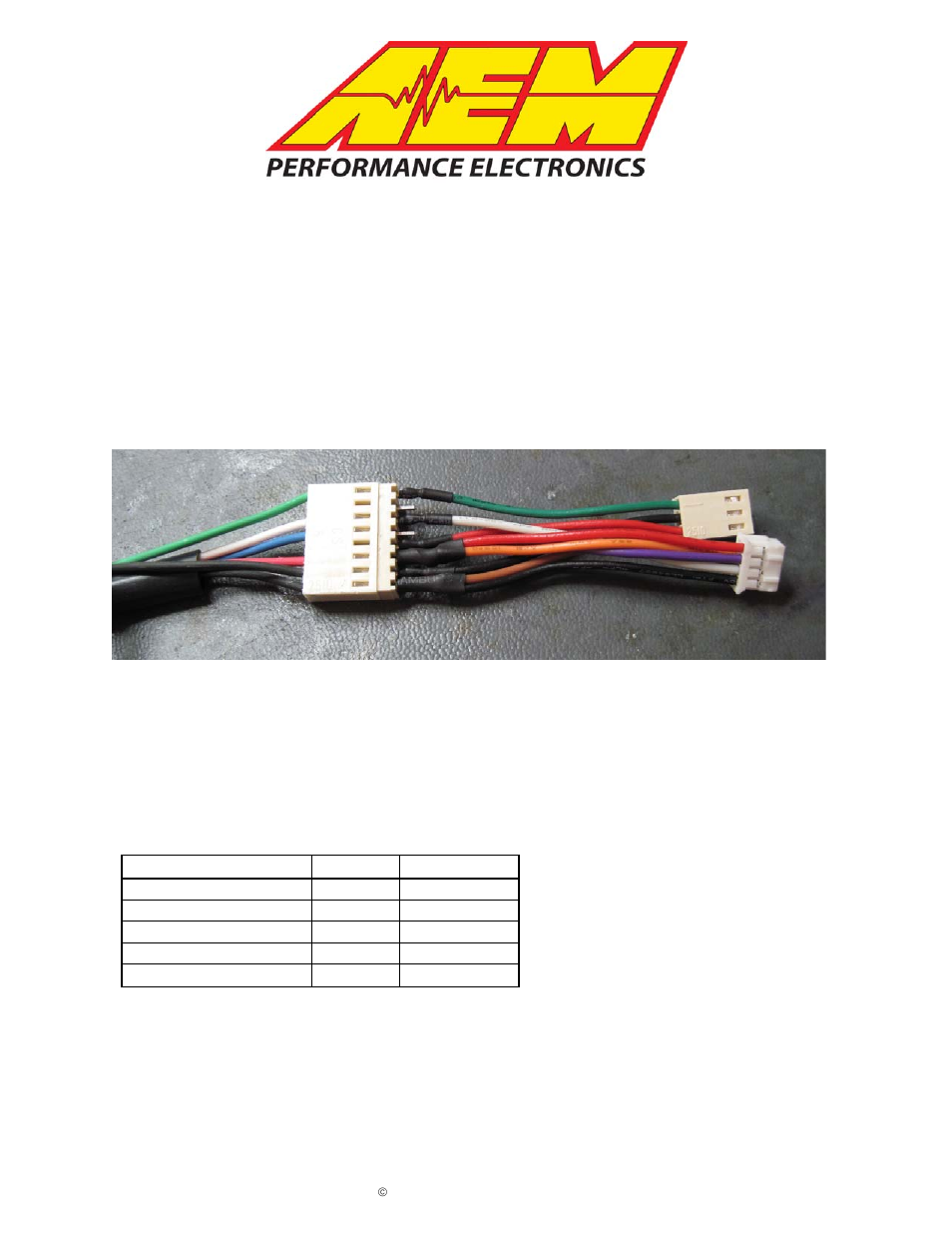 Aem 30 3420 Analog Gauge Wiring Conversion User Manual 2 Pages Psi Harness