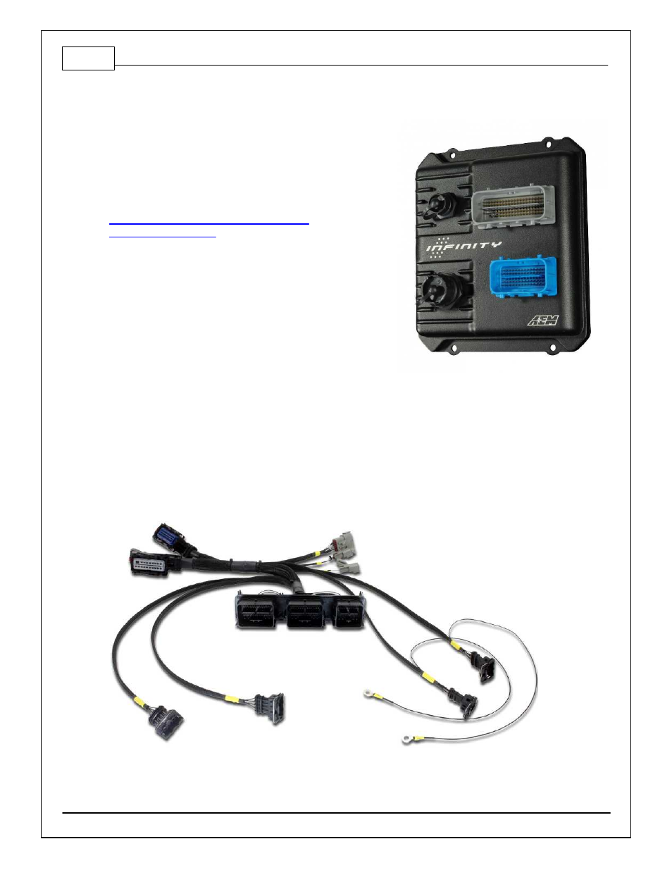 Infinity connectors, Infinity adapter harness | AEM 30-3812 Infinity Plug &  Play Harnesses - Ford Coyote to Ford Racing Controls Pack User Manual |  Page 4 / ...