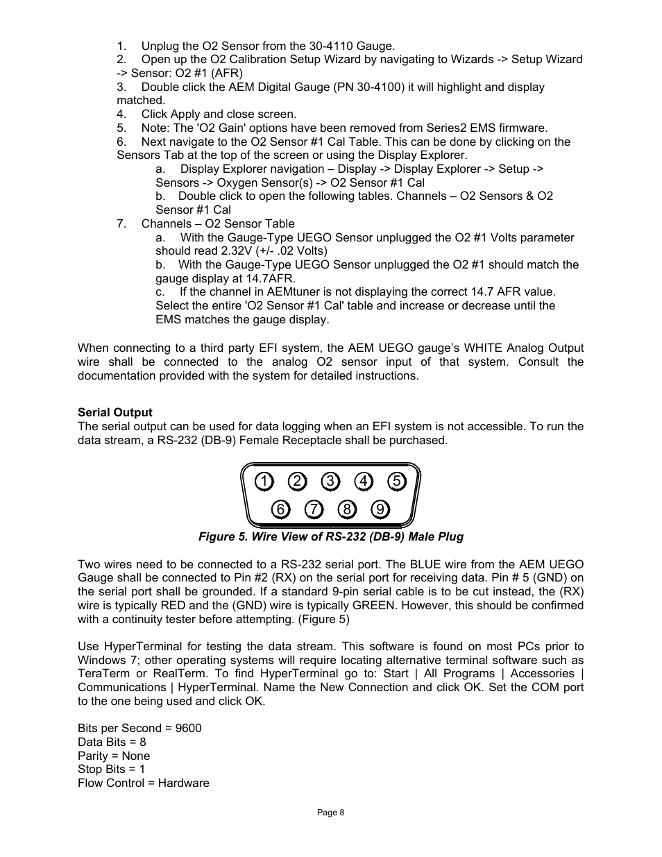 AEM 30-4110 Digital Wideband UEGO Gauge User Manual | Page 8 / 14