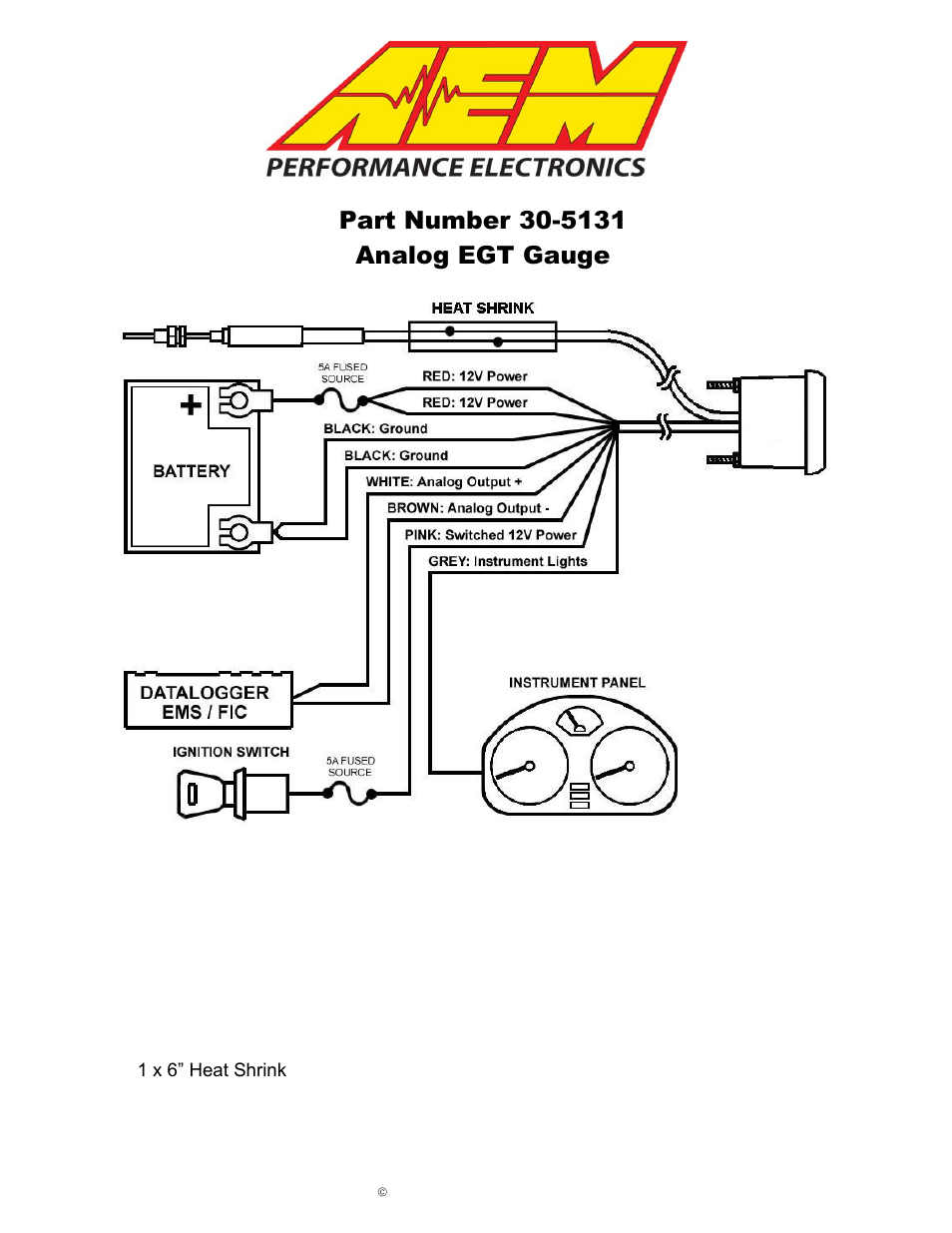 aem 30 5131m analog egt metric gauge page1 aem 30 5131m analog egt metric gauge user manual 7 pages also