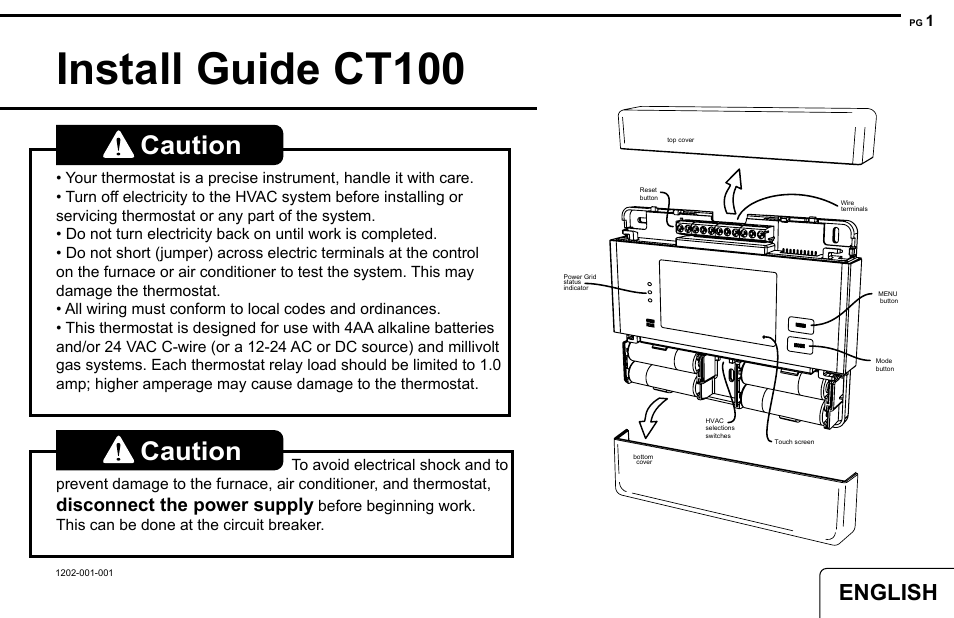 2GIG CT100 User Manual | 20 pages