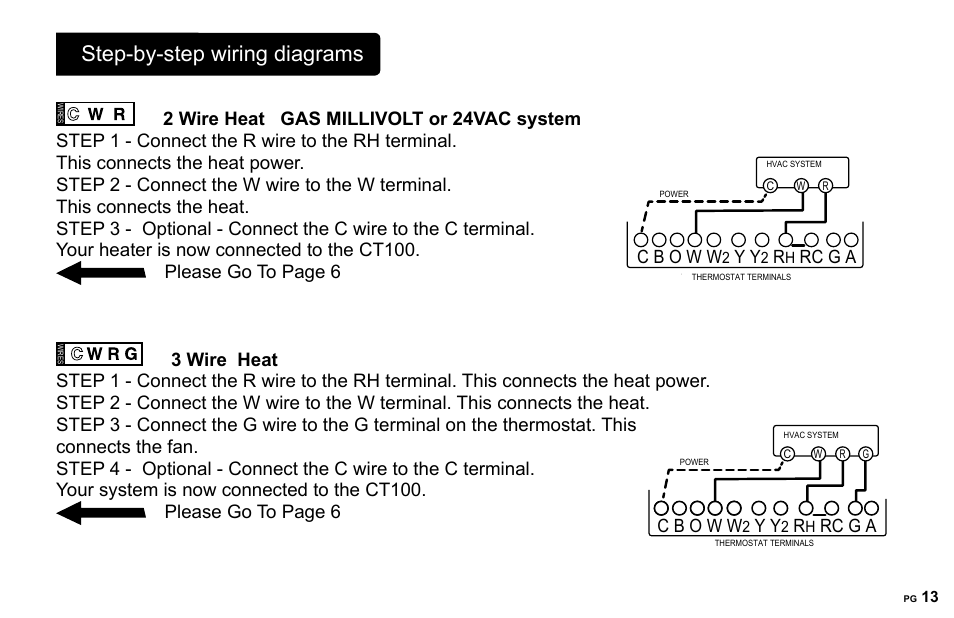 step-by-step wiring diagrams, rc g a | 2gig ct100 user manual | page 13 / 20
