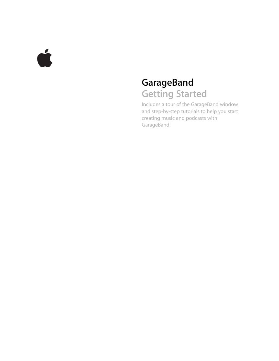 apple garageband  u0026 39 08 user manual