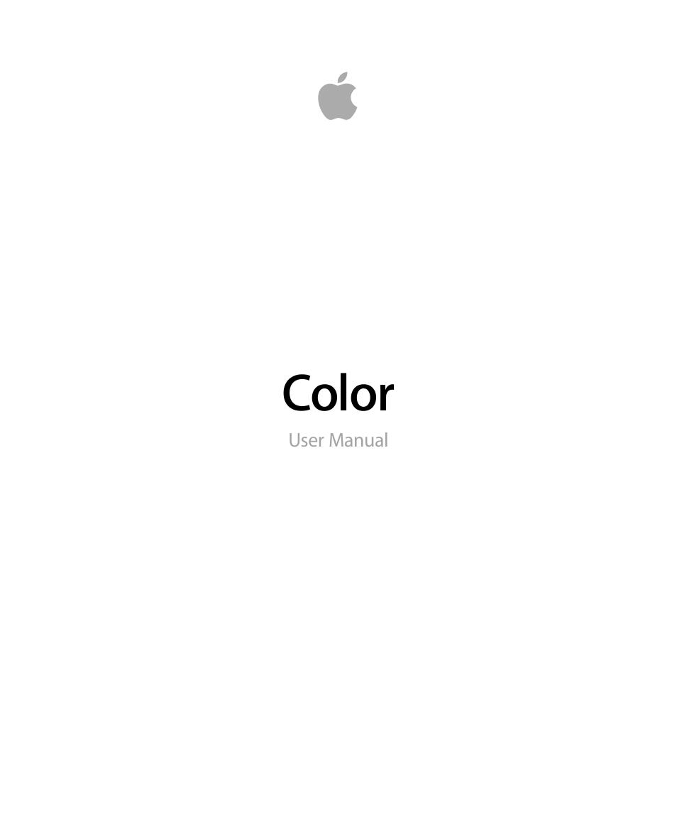 apple color 1 5 user manual 434 pages rh manualsdir com Apple iPhone 5S User Manual Apple Instruction Manuals