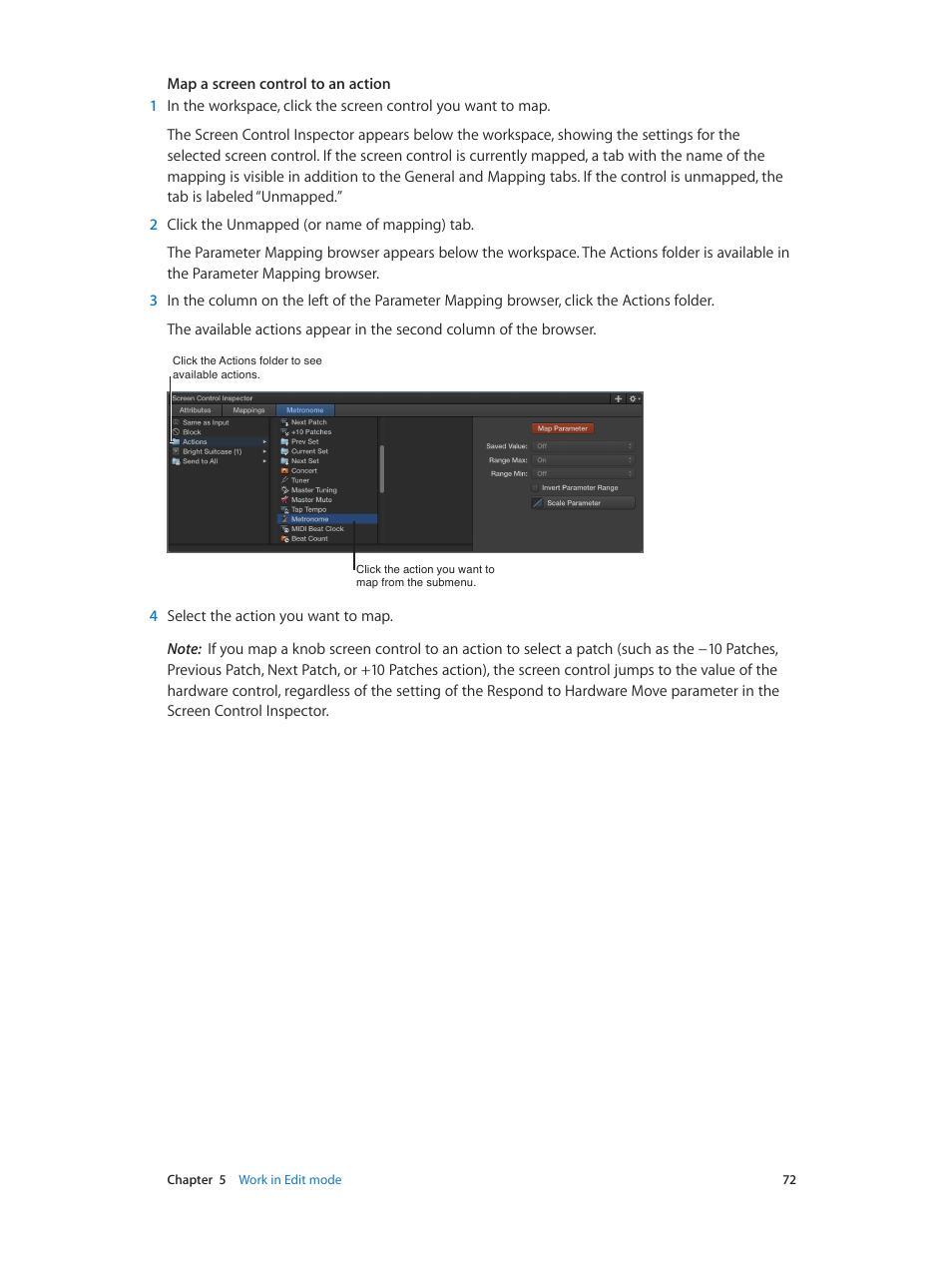 Apple MainStage 3 User Manual | Page 72 / 158 | Original mode
