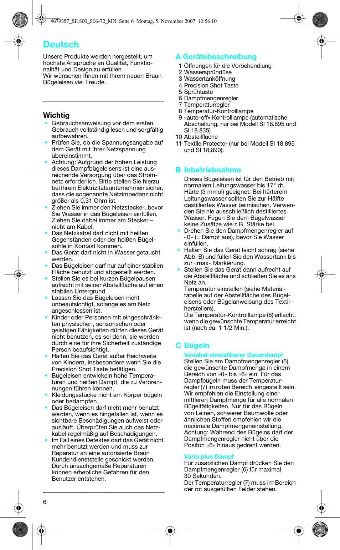 436986f045 Deutsch | Braun 4690 User Manual | Page 6 / 70
