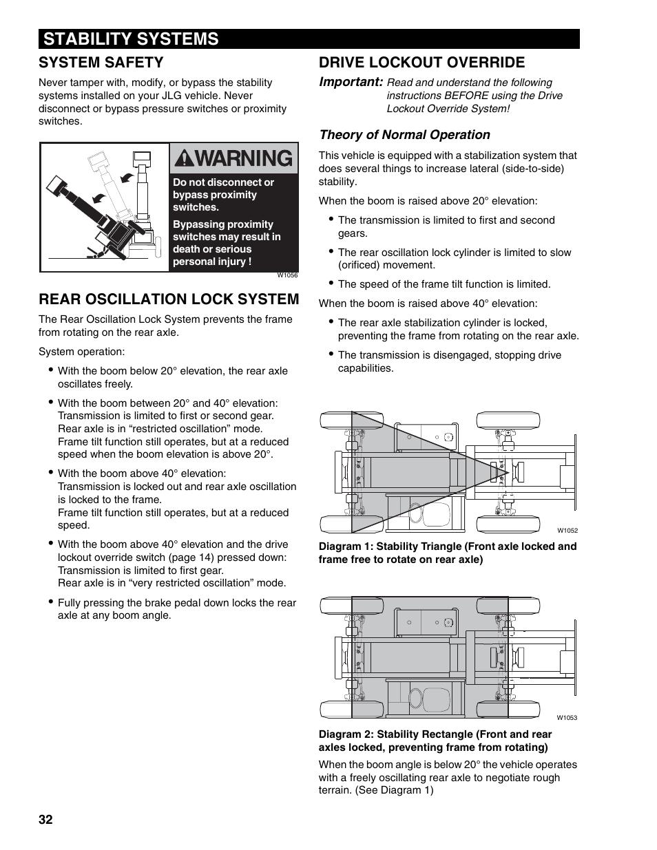 stability systems  system safety  rear oscillation lock system