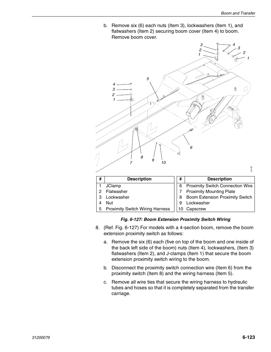 Lull Boom Diagram Trusted Wiring Diagrams 1044c 54 Series Ii Service Manual User Page 265 382