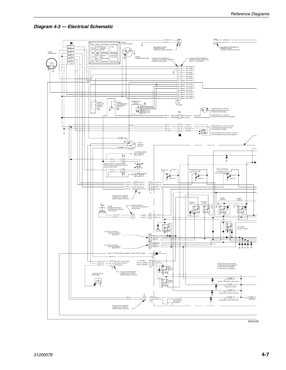 Lull Proximity Switch Wiring Diagram Will Be A Thing 4 3 Electrical Schematic Mv0430 Pa E2 E1 K 1044c Rh Manualsdir Com 2wire Sensor Circuit