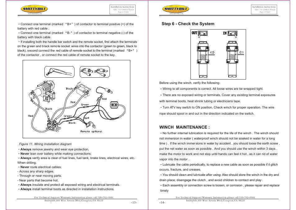 Т³гж 7, Winch maintenance, Step 6 - check the system   Smittybilt on