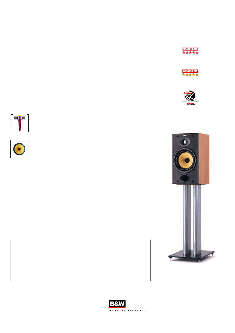 Bowers      Wilkins DM601 S2 User Manual   1 page