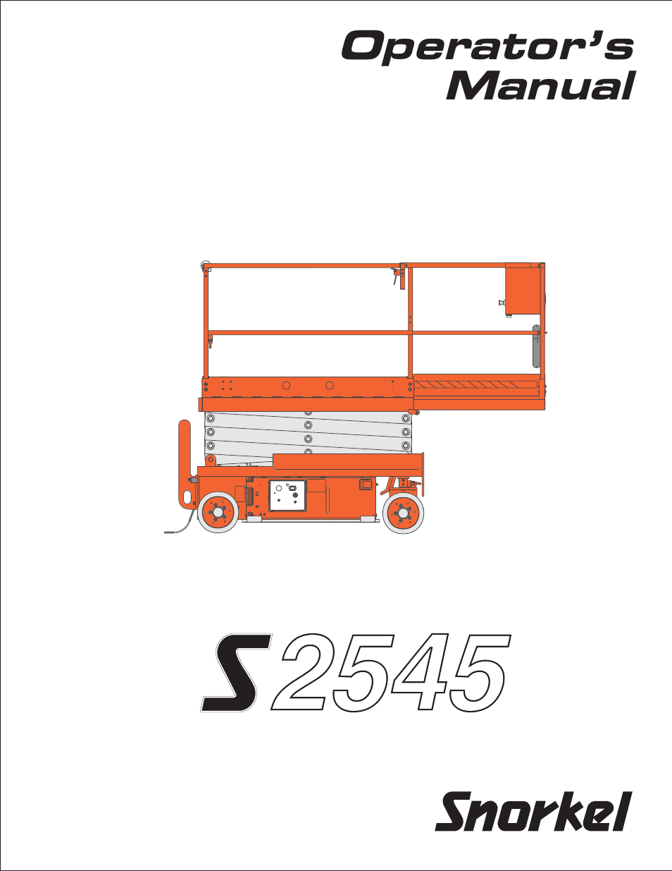Snorkel S2545 User Manual 53 Pages Eagle Lift Wiring Diagram