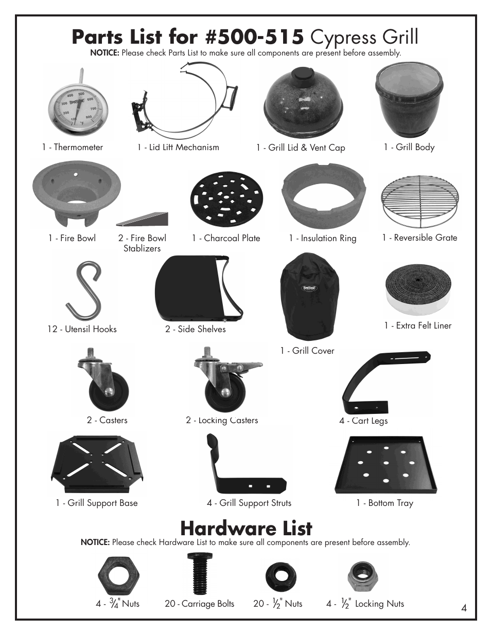 Hardware List Bayou Classic Cypress Grill Ceramic Charcoal Grill