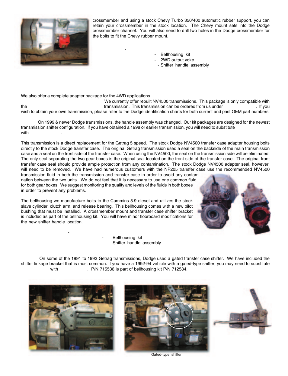 4wd dodge applications   Advance Adapters AX15 User Manual