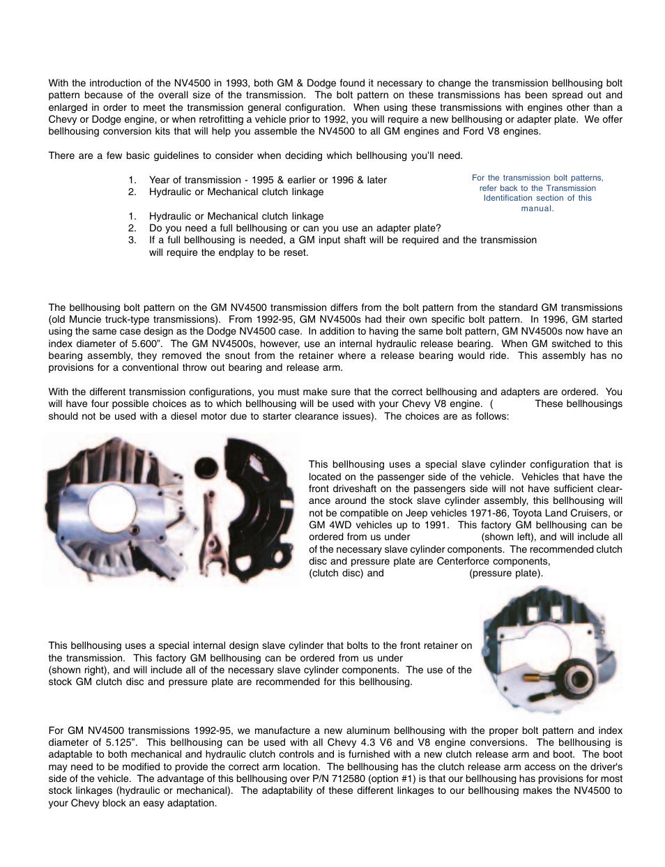 Advance Adapters Conversion Bellhousing Manual Guide
