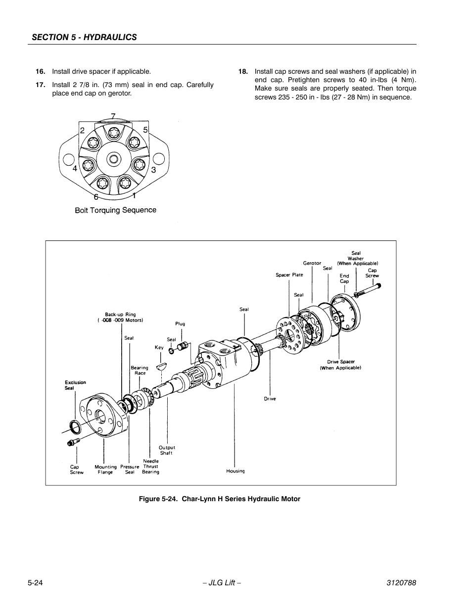 Char-lynn h series hydraulic motor -24 | JLG 460SJ ANSI Service