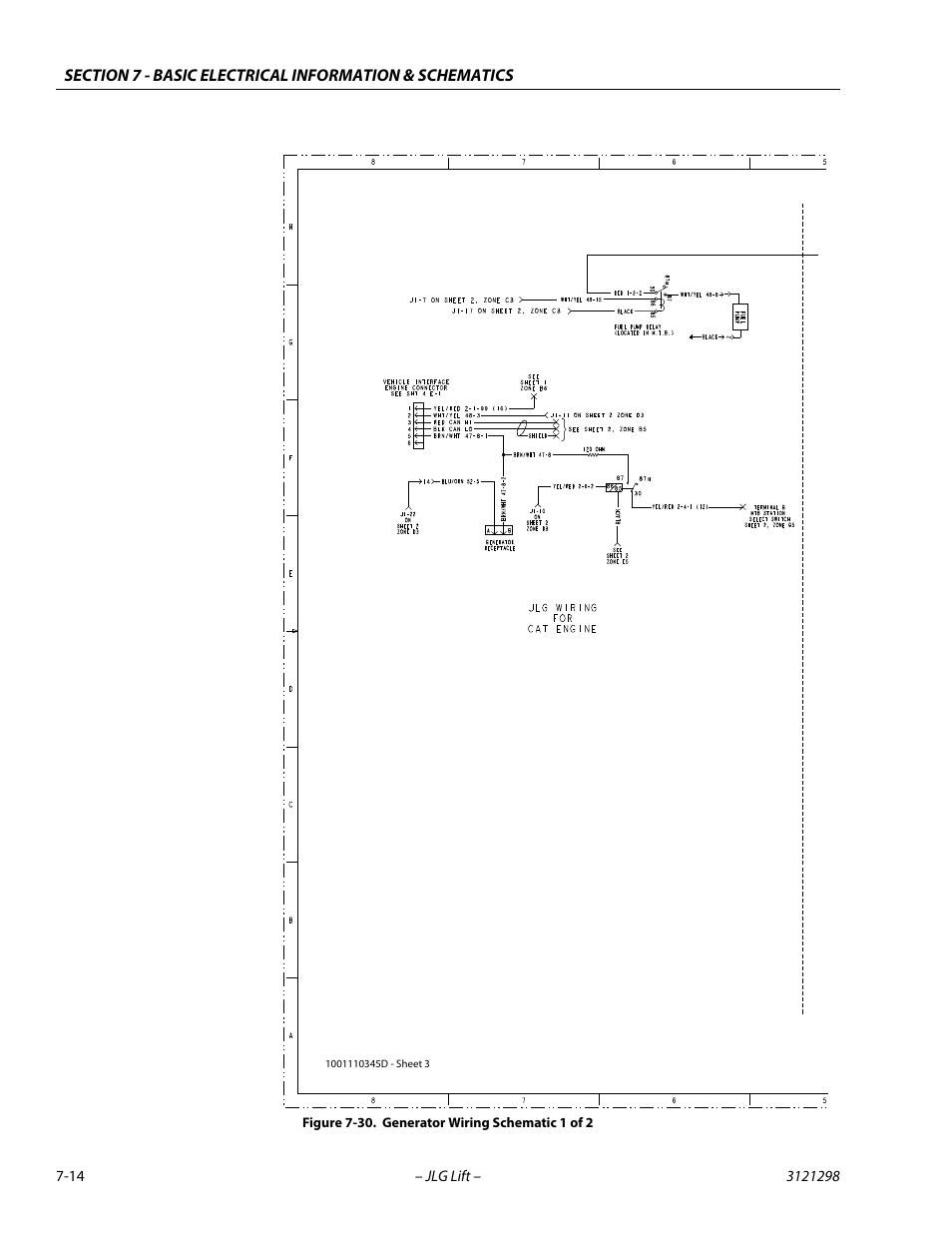 Generator wiring schematic 1 of 2 -14 | JLG 660SJ Service Manual User Manual  | Page 314 / 328Manuals Directory