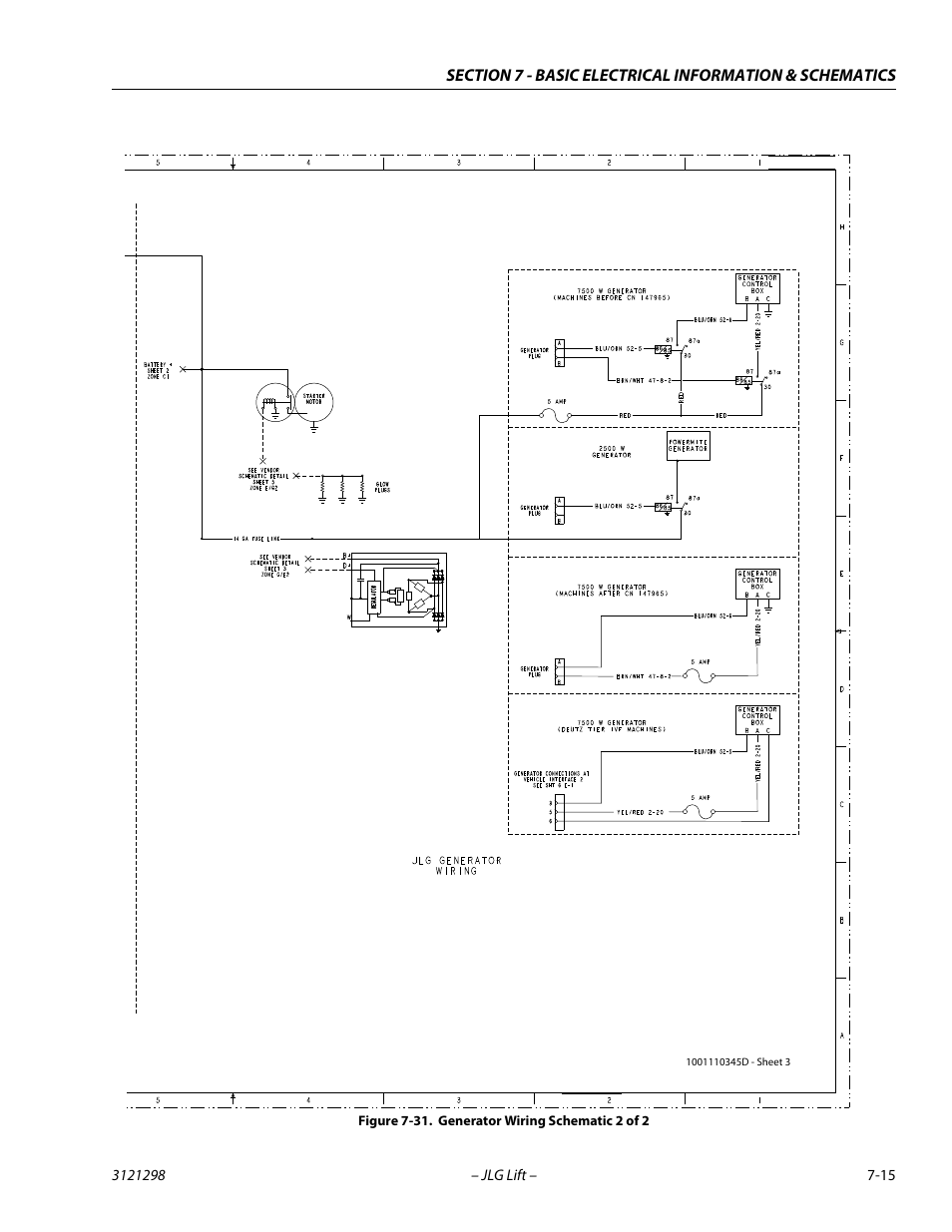 generator wiring schematic 2 of 2 15 jlg 660sj service. Black Bedroom Furniture Sets. Home Design Ideas