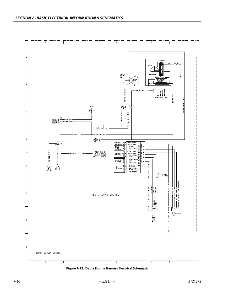 Deutz Engine Schematics Wiring Diagrams Electrolux Microwave E30m075hps Diagram Harness Electrical Schematic 16 Jlg 660sj Service Rh Manualsdir Com 1011f