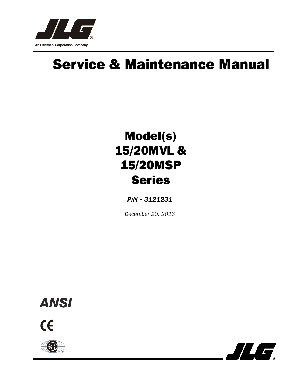 jlg 15  20msp service manual user manual