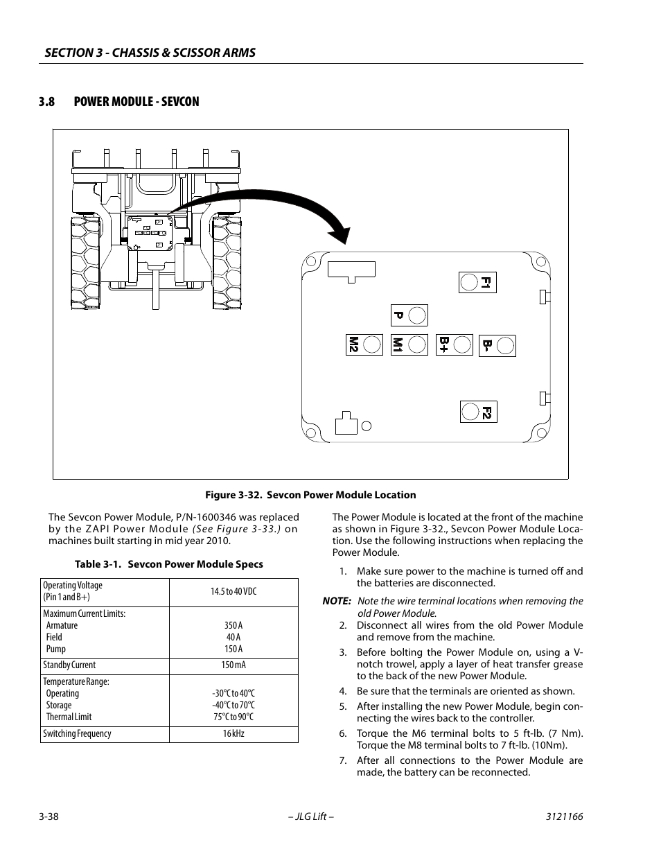 8 Power Module - Sevcon  Sevcon Power Module Specs