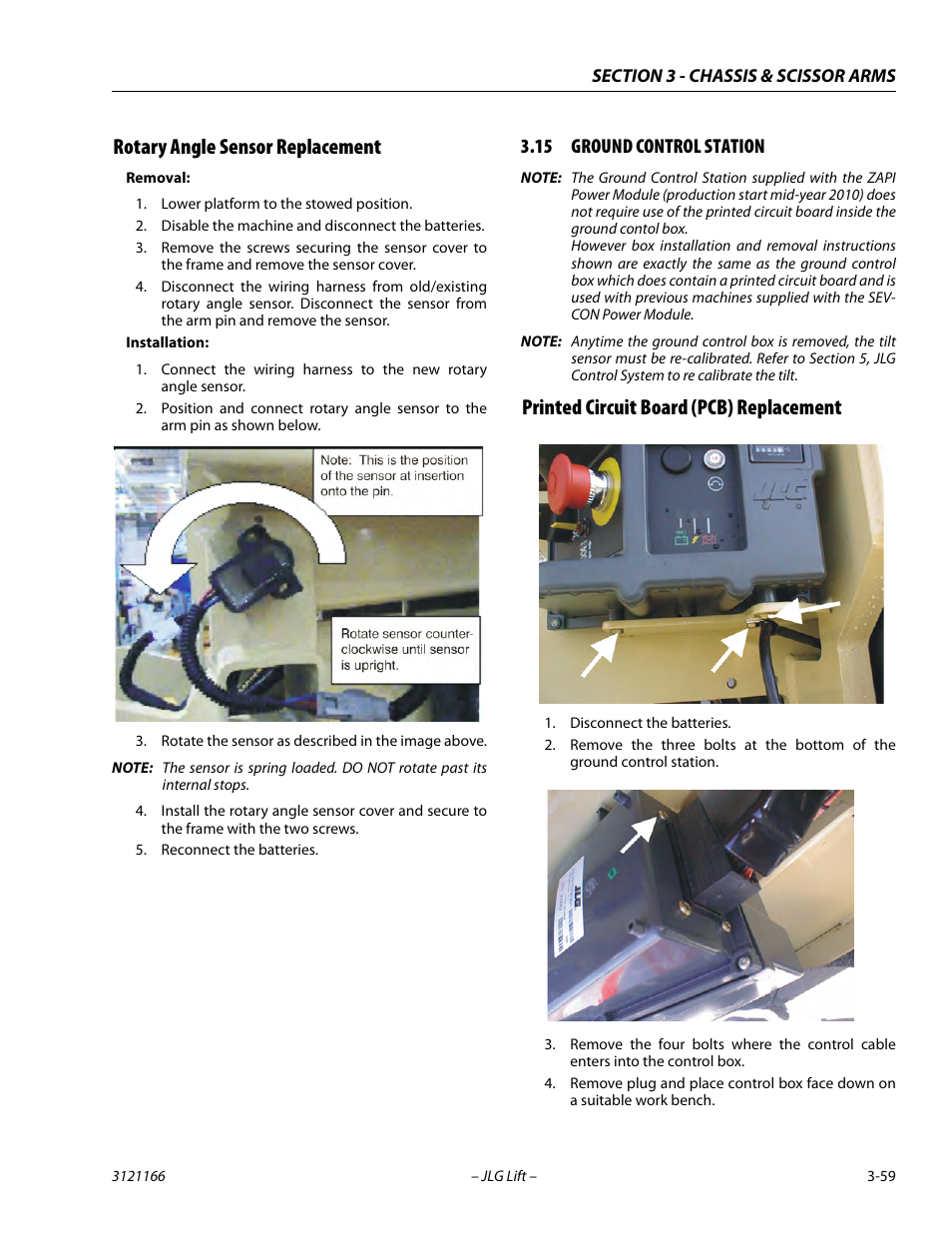 jlg 3246es service manual page95 rotary angle sensor replacement, 15 ground control station jlg wiring harness at gsmportal.co