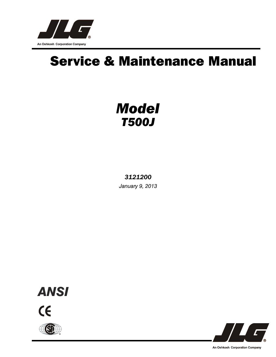 jlg t500j service manual user manual
