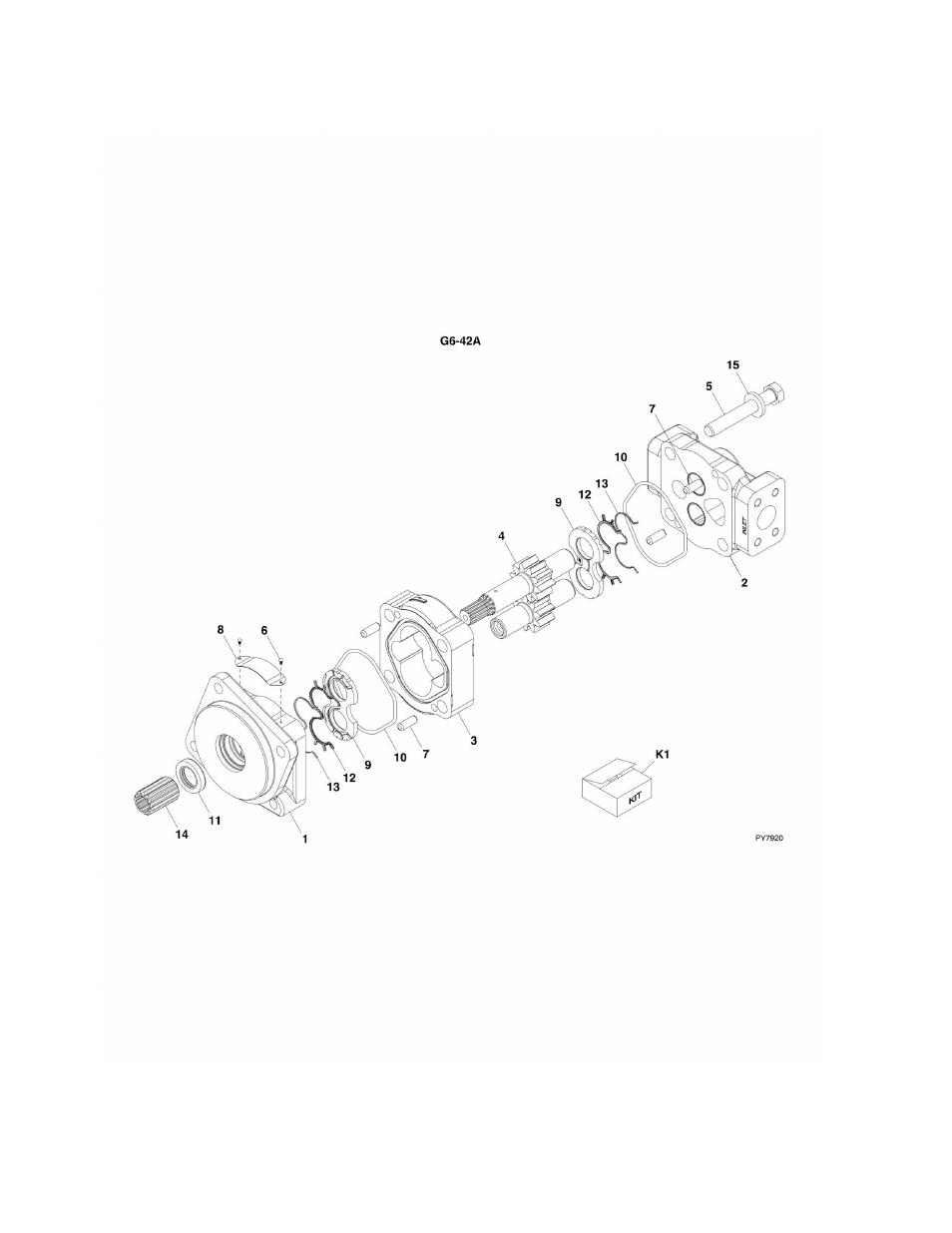 Jlg Hydraulic Pump : Figure hydraulic pump g a jlg parts