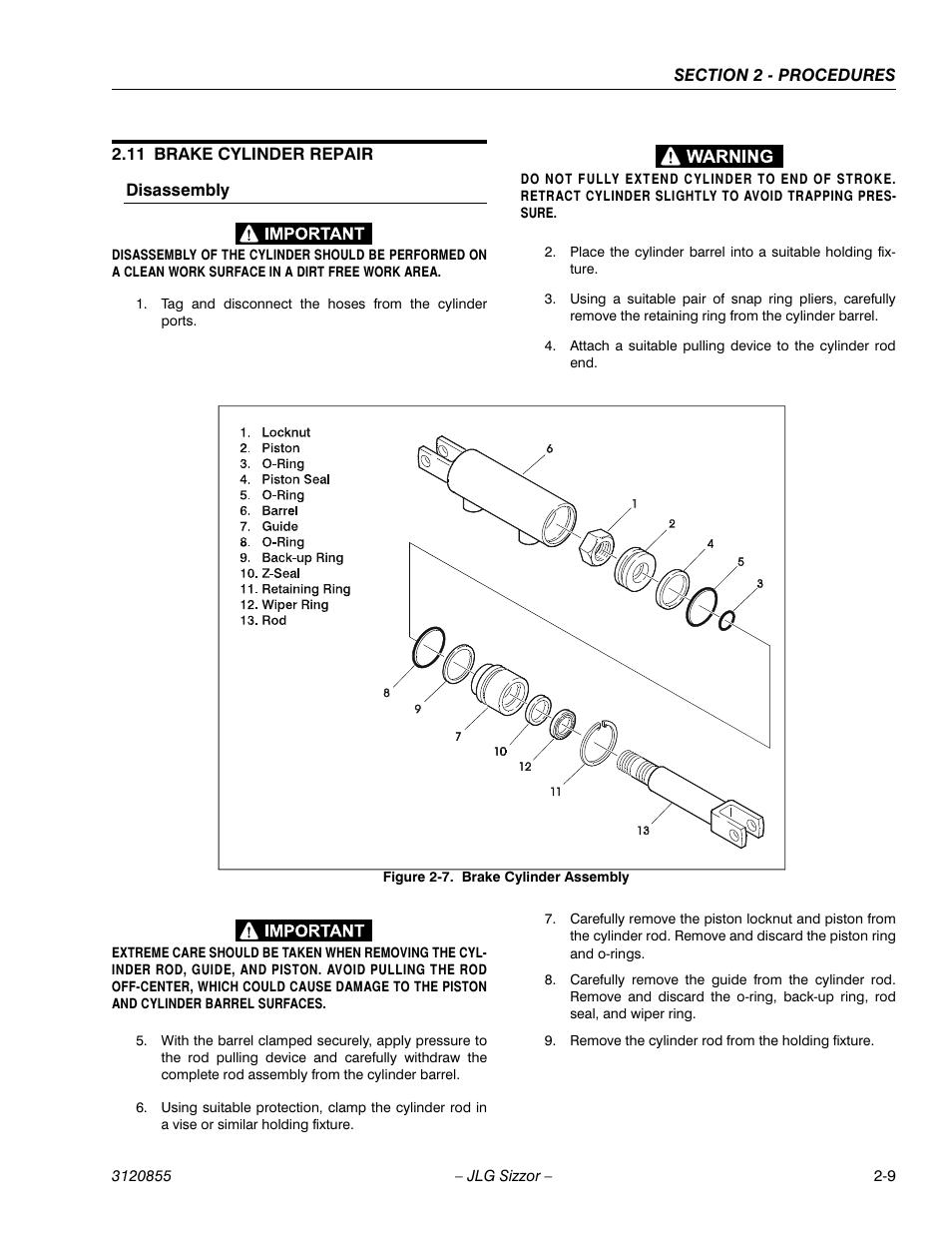 11 Brake Cylinder Repair  Disassembly  Brake Cylinder