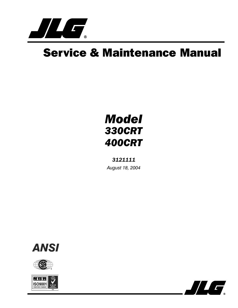 jlg aerial lift operators manual