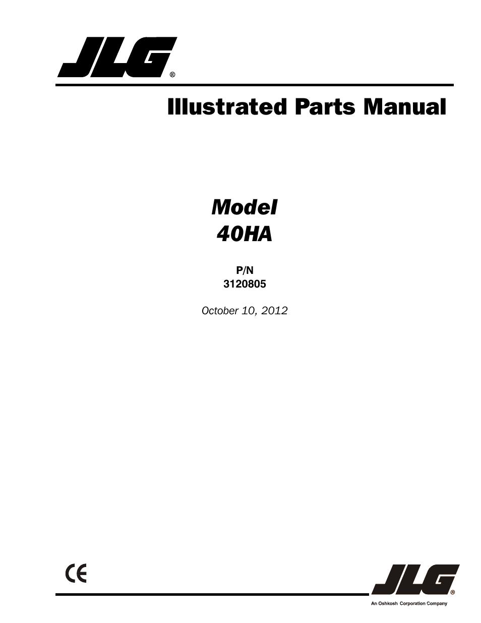 jlg 40ha parts manual user manual